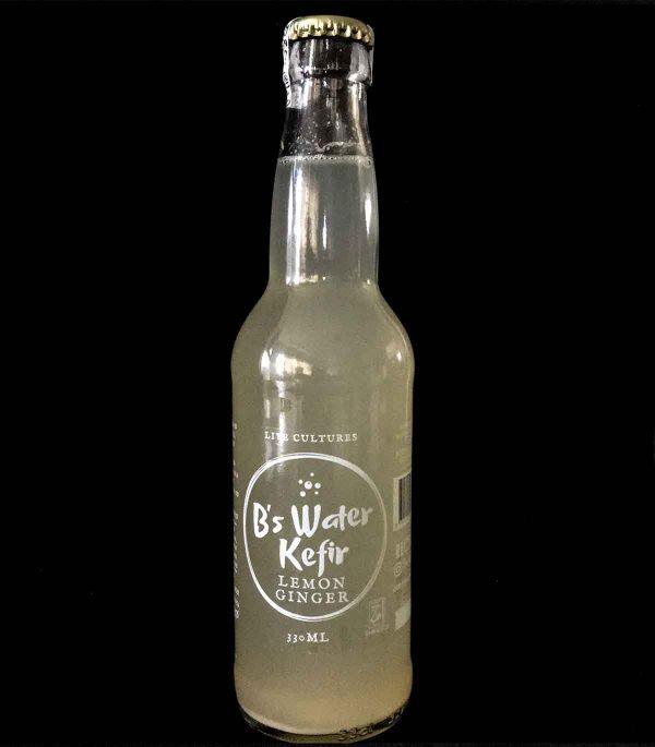 B's Water Kefir – Lemon and Ginger (330ml)