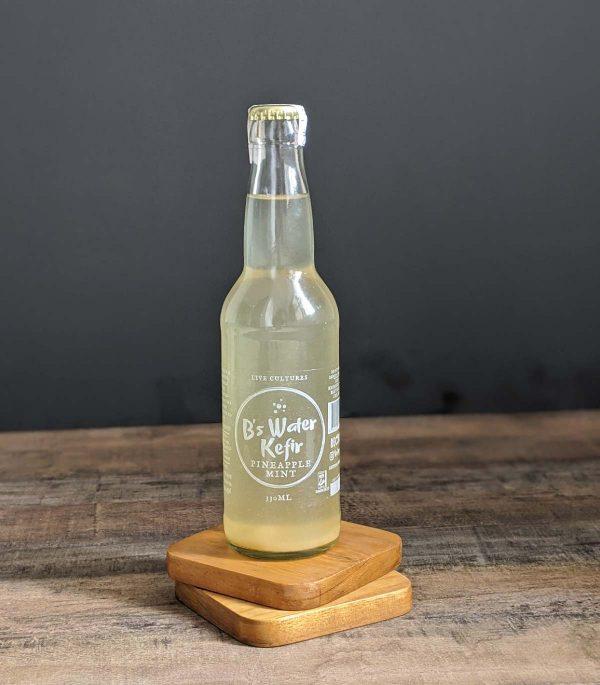 B's Water Kefir – Pineapple and mint (330ml)