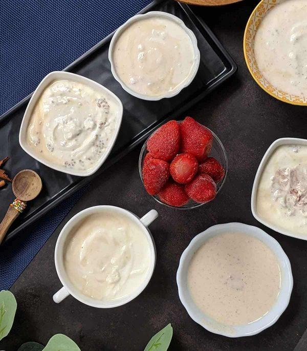 Flavoured and Plain Greek yoghurt – (250g)